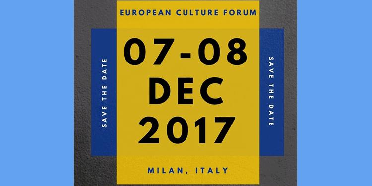 07-08/12/2017 European Culture Forum, Milan, Italy