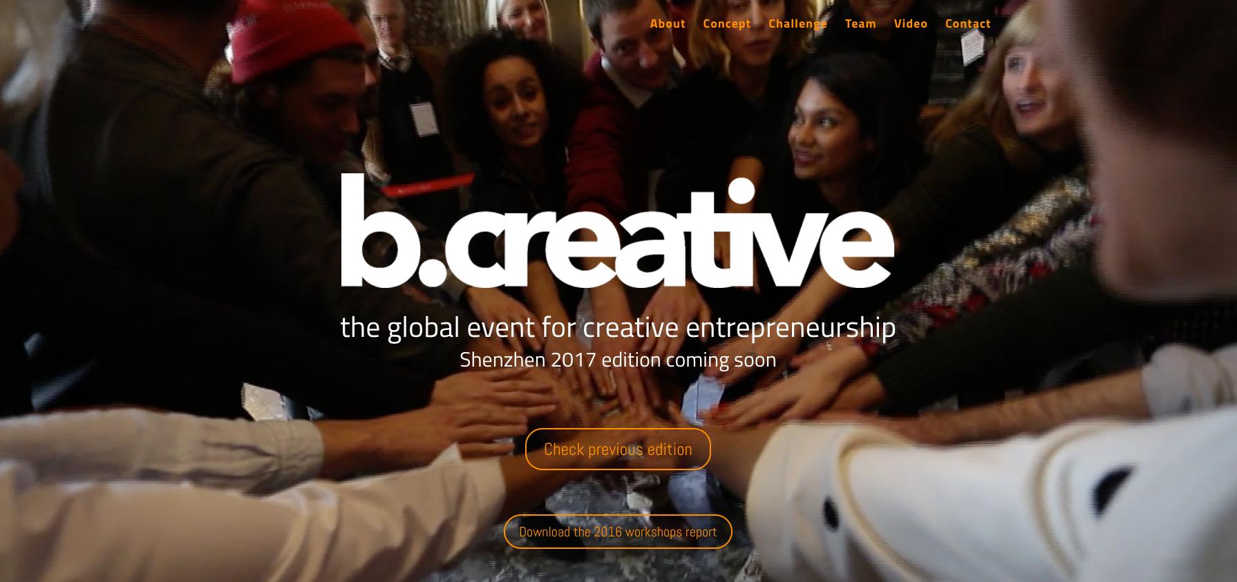 15/11/2017, b.creative conference, Shanghai, China