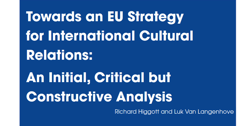 Critical Analysis of EU Strategy for International Cultural Relations