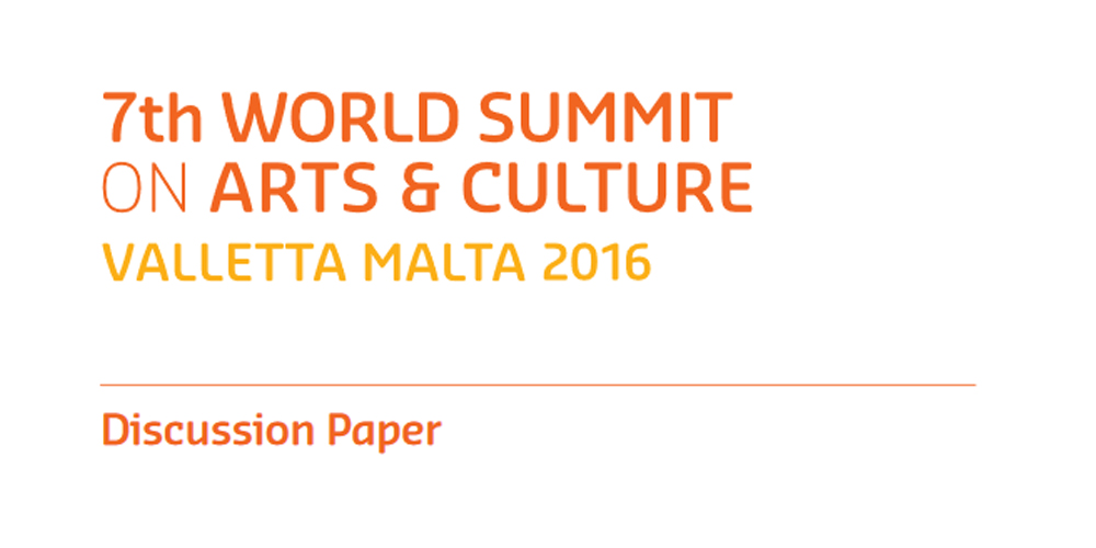 Discussion Paper 7th World Summit on Arts and Culture