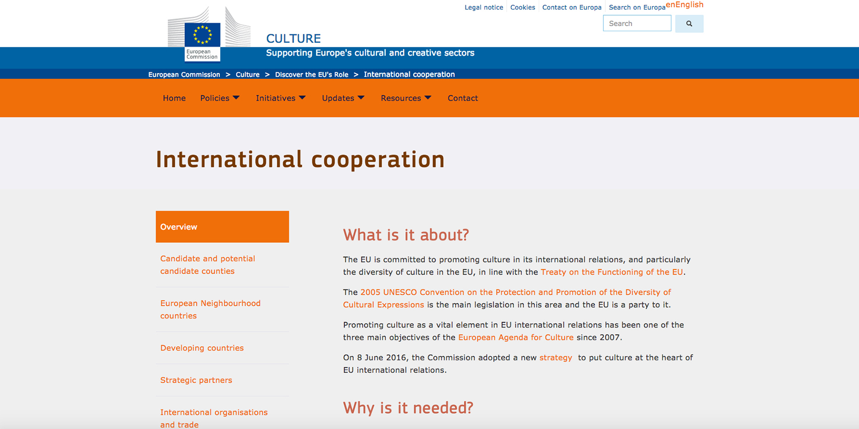 European Commission - Education and Culture & International Cooperation