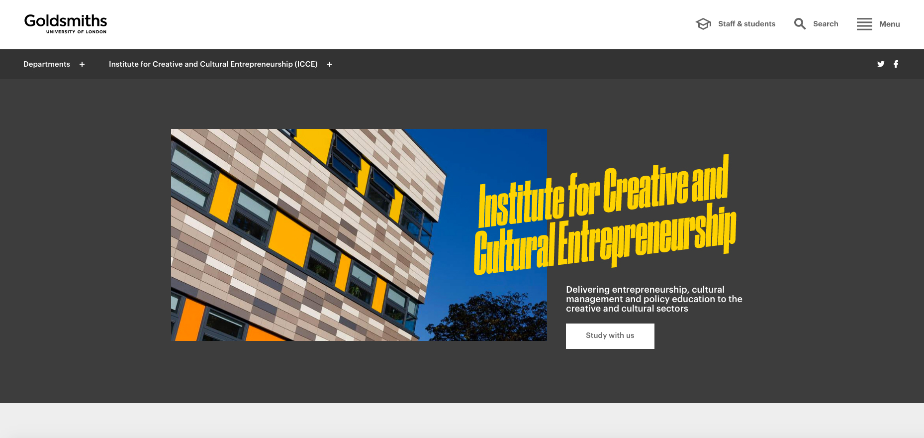 Goldsmiths University of London - ICCE