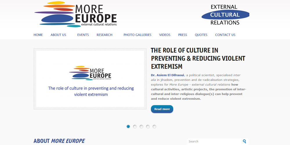 More Europe - external cultural relations