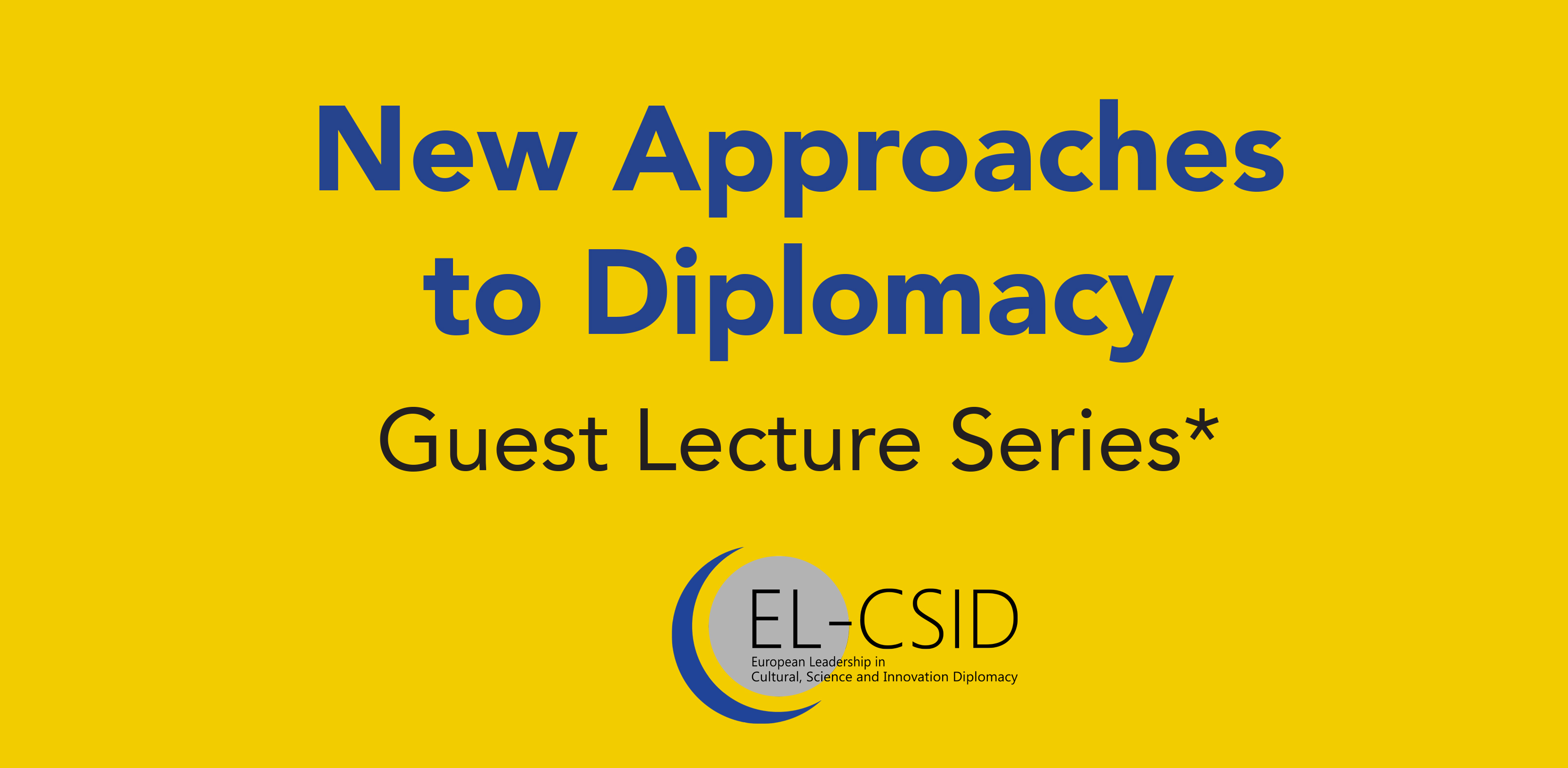 24/05/2017, Guest Lecture on New Approaches to Diplomacy