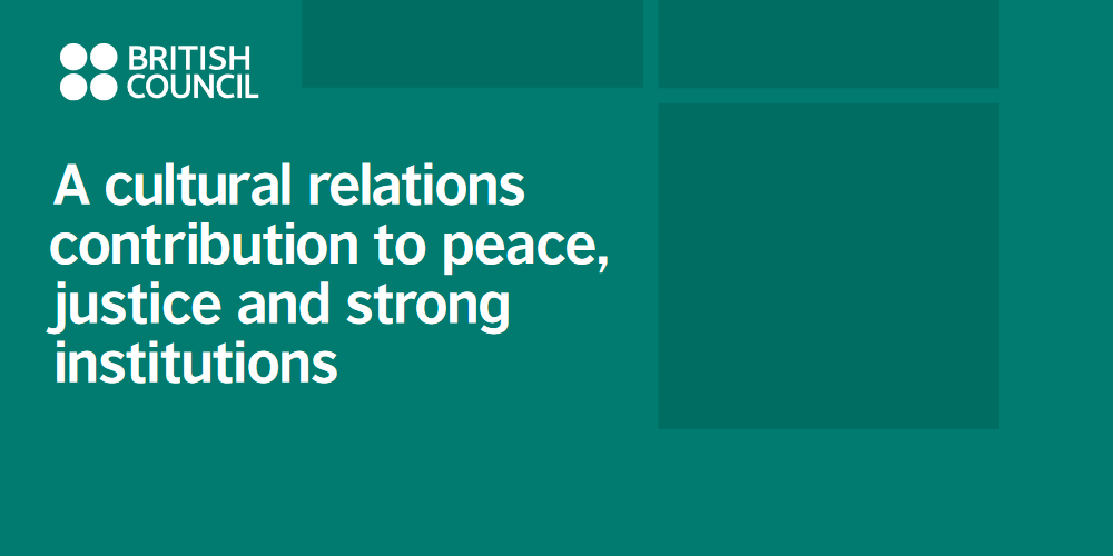 A cultural relations approach to peace, justice and strong institutions